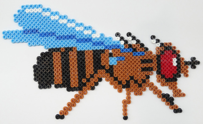Hama bead fly