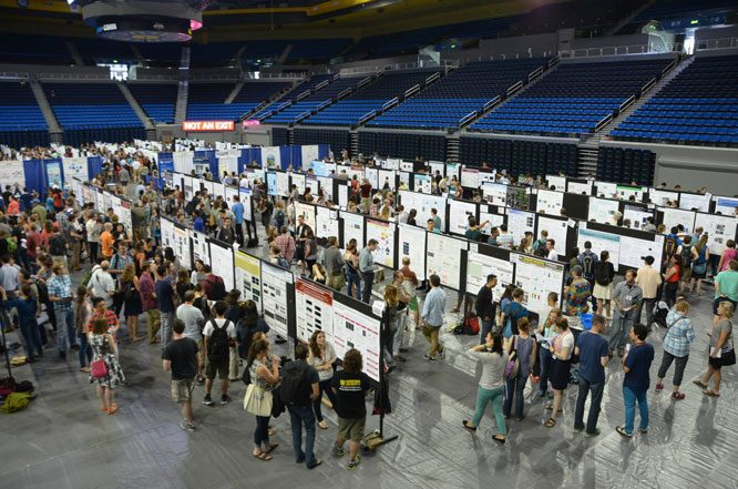 Poster session at a recent GSAconference, the 20th International C. elegans meeting.