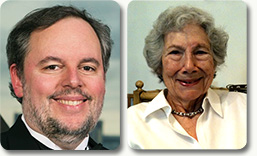 Stephen J. Elledge and Evelyn M. Witkin, recipients of the 2015 Albert Lasker Medical Research Award. (Image courtesy Lasker Foundation)
