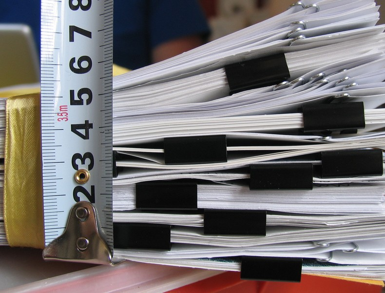 """this paperwork is big. 1.93kg"" by Ashley Fisher"