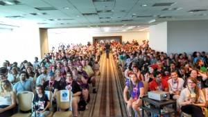 The crowd for Spana's 2015 Genetics of Wizarding talk, from his Twitter.