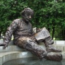 Iconic Albert Einstein statue at the US  National Academies of Science, Engineering, and Medicine