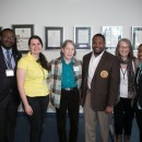 ATGC-STL Co-chairs with plenary speakers. Pictured: (right to left) Joseph Bradley, Chelsea Pretz, Dr. Sally Elgin (keynote speaker), Dr. Dwaun J. Warmack (HSSU President), Dr. Ann Podleski (Honoree Speaker), Davinelle Daniels