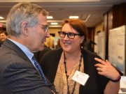 Ahna Skop explains why she uses C.elegans to study cell division to AAAS CEO Rush Holt