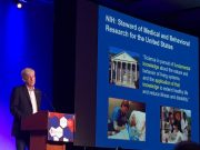 NIH Director Francis Collins delivering his keynote address at The Allied Genetics Conference.
