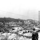 Atomic bomb damage at Hiroshima, Japan seen by the USS Appalachian November 17, 1945. Source: US Department of Energy.