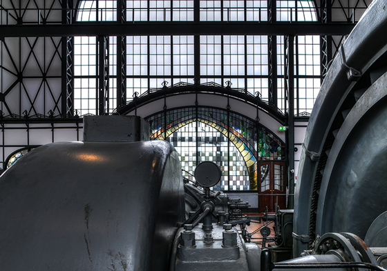 "The machine hall of the former coal mine ""Zollern"" in Dortmund is an example of the beginning of modern industrial architecture, combining historism, art nouveau, and modern elements."