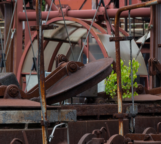 """The former coal mine and coking plant """"Zollverein"""" in Essen is now a museum and was named a UNESCO world heritage site in 2001. The picture shows a detail of the coking plant."""
