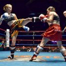 Traumatic brain injury is a risk for those who participate in contact sports, such as boxing and Muay Thai. By Eric Langley [CC BY 2.0], via Wikimedia Commons.