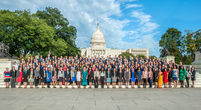 Photo of large group of AAAS fellows