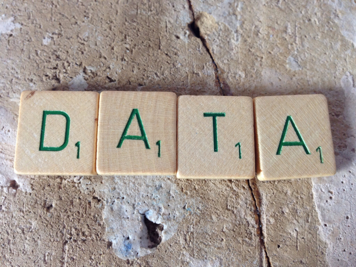 "Image: Scrabble pieces spelling ""data"" by Janneke Staaks via Flickr, CC BY-NC 2.0 license."