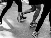 Image: photo focused on the feet of three people running by aquachara via Unsplash, Unsplash License.