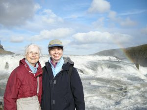 Lea Bleyman and her daughter, Anne, on a trip together in Iceland.