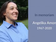 Angelika Amon in memoriam card