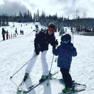 Lisa Ziegler Allen skiing