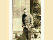 Tatsuo Aida in his garden